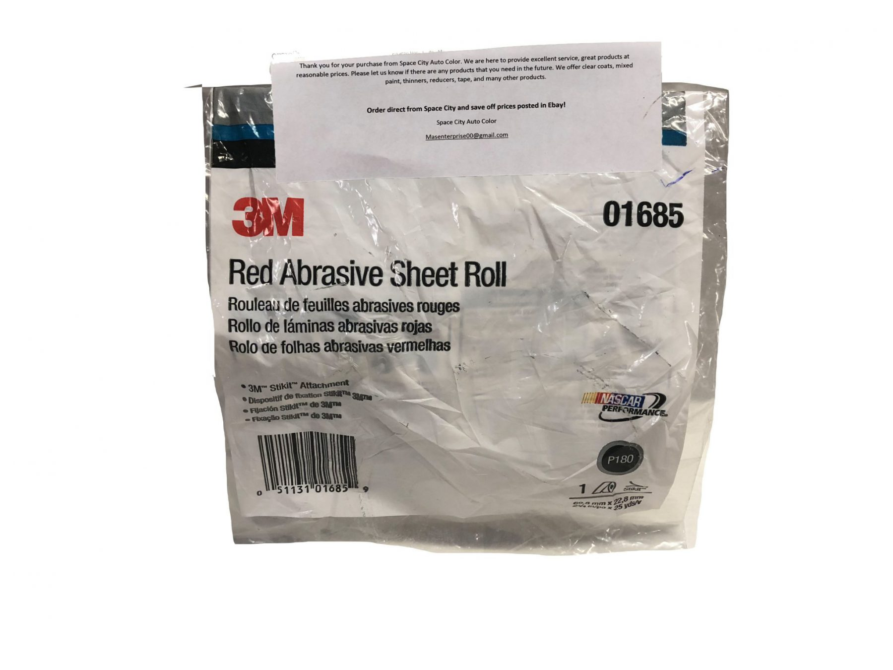 3m Company 3M-1685 Red Abrasive Stikit Sheet Roll 2 3//4 In X 25 Yd P180